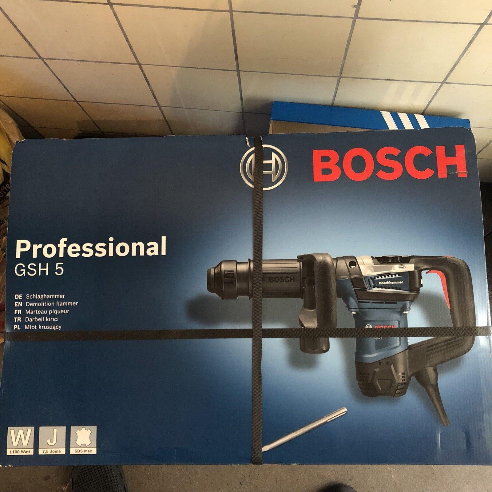 Bosch Schlaghammer Stemmhammer GSH 5 inkl. Koffer + Spitzmeißel