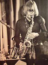 ZBIGNIEW NAMYSLOWSKI clipping Polish jazz B&W photo alto saxophone Astigmatic