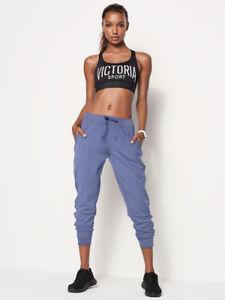 Victoria's Secret Bleu Jogger Confortable poches Souple W Sport Pantalon rrvZqwa4