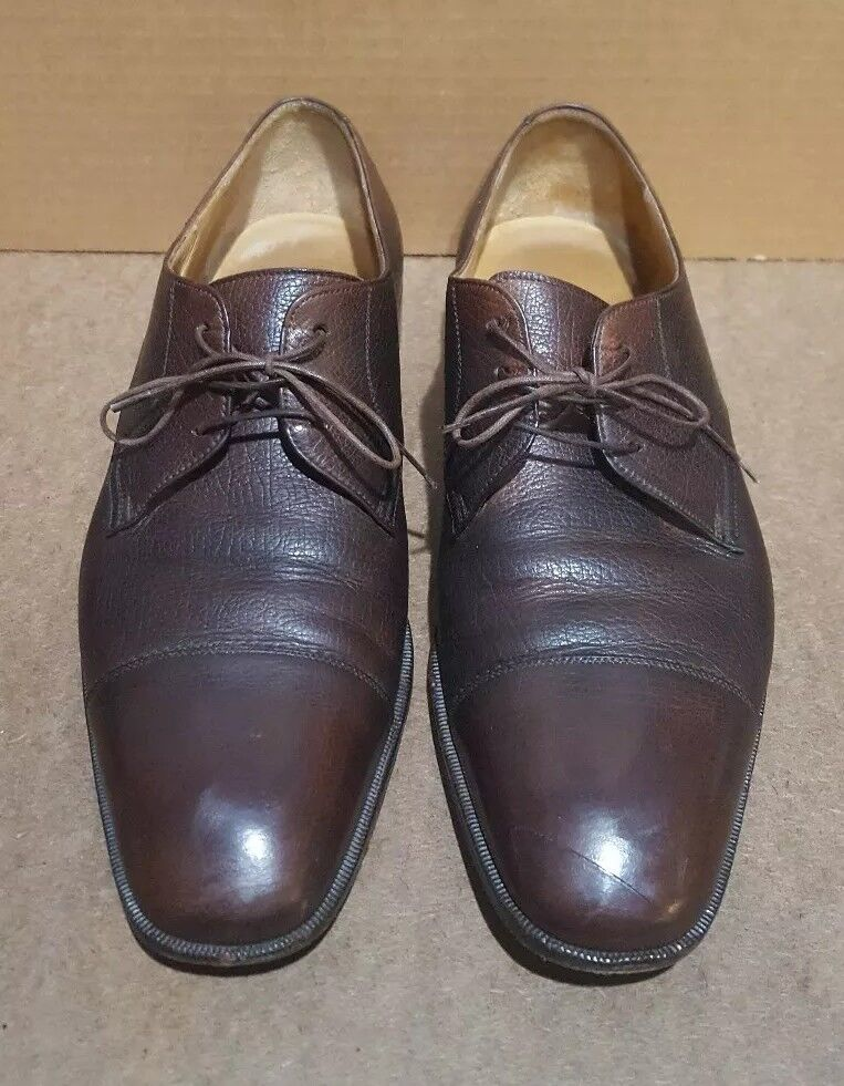 Salvatore Ferragamo Florence Made in  Brown Cap Toe Oxford shoes Size 10 D