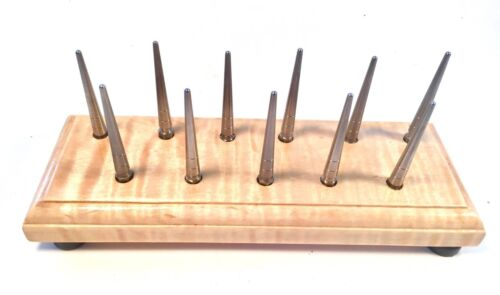Maple Long Pin Bassoon Drying Rack-2 FREE Handles-10+1 HEX based REMOVABLE Pins