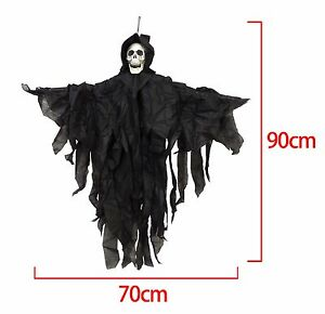 90cm-Hooded-Skeleton-Halloween-Hanging-Black-Skull-Reaper-Decoration-Prop-Shop