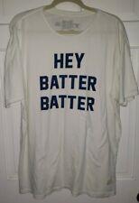 "Men/'s /""Hey Batter Batter Swing Batter/"" Graphic T~Shirt Awake Charcoal Sz SM /& LG"