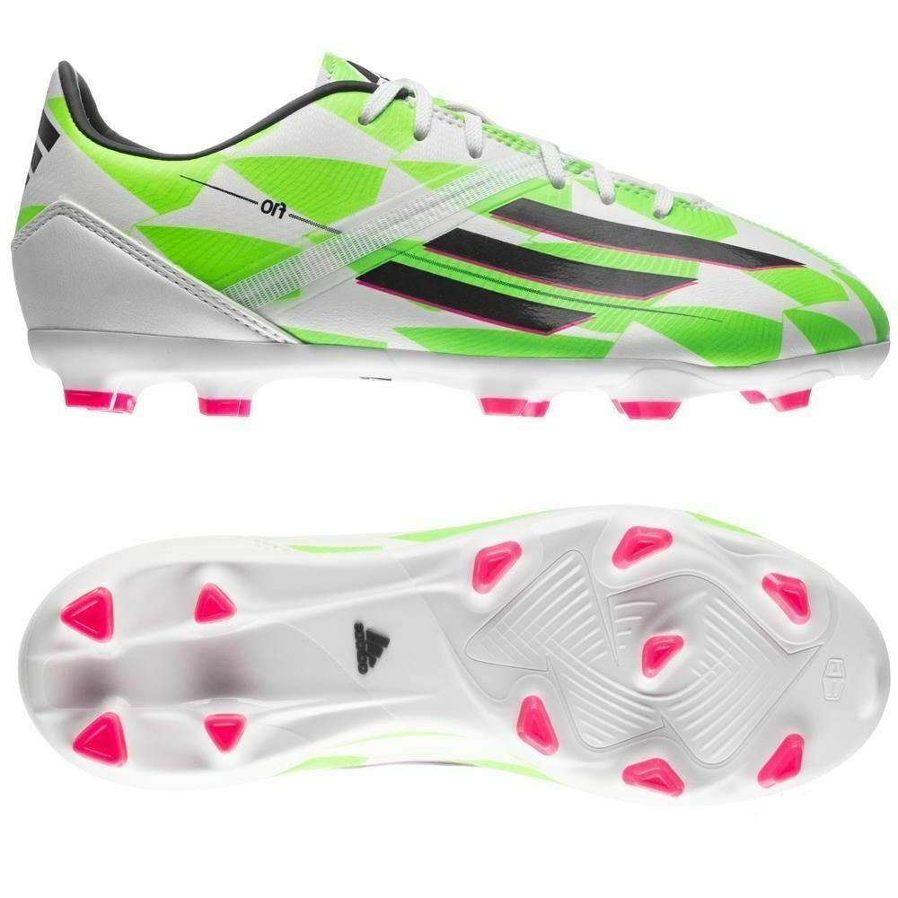 Adidas F10 TRX FG 2014 Soccer shoes White   Green   bluee Brand New Kids Youth