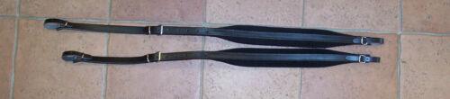 Paire de bretelles courroies accordéon cuir rembourré velours largeur 4,5 cm