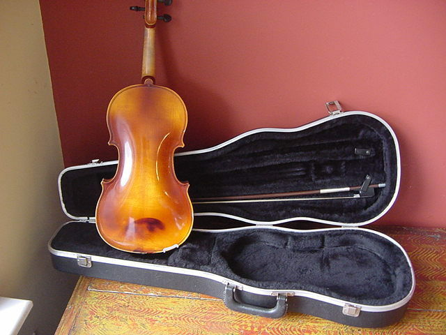 "VINTAGE TON KLAR DANKLA VIOLA 14""  WITH CASE AND GLASSER BOW GERMANY LEWIS"