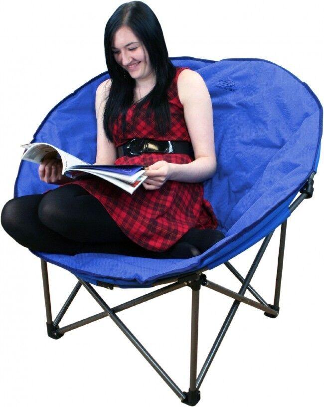 Plegable Luna Silla - blue para Festivales o Acampada