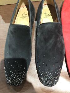 size 40 1891b f0fd4 Details about Christian Louboutin Dandelion Degra Flat Veau Velours Black  40.5 $1595 Soldout