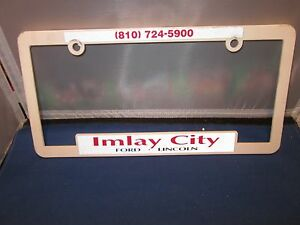 Imlay City Ford >> Details About Imlay City Ford Lincoln Dealer License Plate Frame Plastic Man Cave 810 724 590