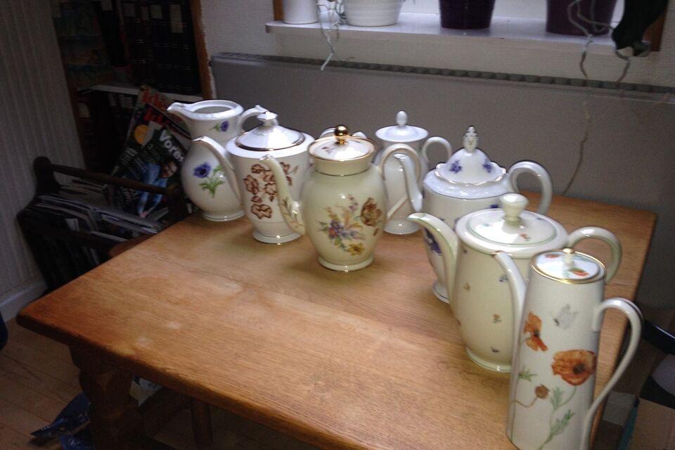 Porcelæn, Kaffekanden moccakander, Der er 7 forskellige