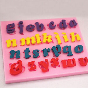 Silicone-Alphabet-Letter-Trays-Chocolate-Mold-Cake-Fondant-Decorating-Tools-AU