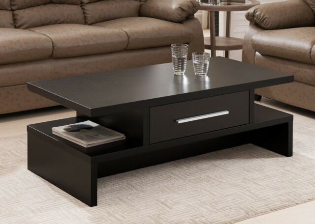 Coffee Table Rectangular Design Drawer