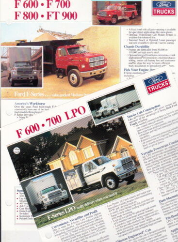 1991 FORD F-SERIES WORKFORCE TRUCK US Brochure SUPER DUTY F600 F700 F800 FT900