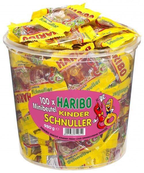 Haribo Kinder-Schnuller Fruchtgummi Mini-Beutel 100 Stück