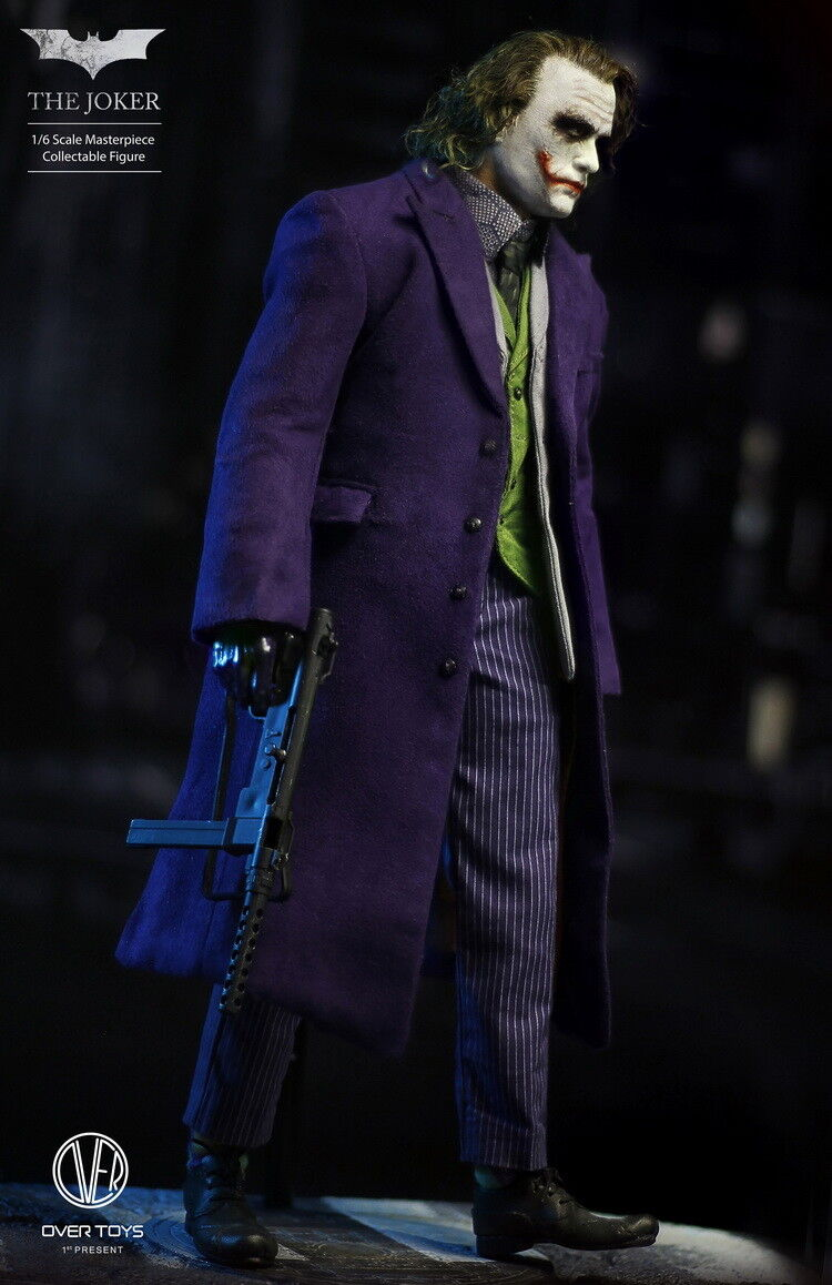 1 6 Over Toys The The The Dark Knight The Joker with Rooted Hair Joker Headsculpt NEW 30b3ff