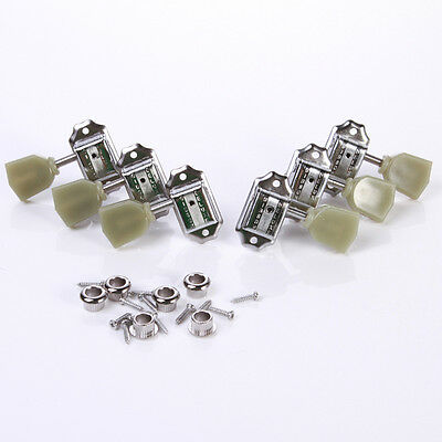 Set of 3R+3L Guitar Deluxe Tuning Pegs Keys Machine Heads Tuners Guitar Part