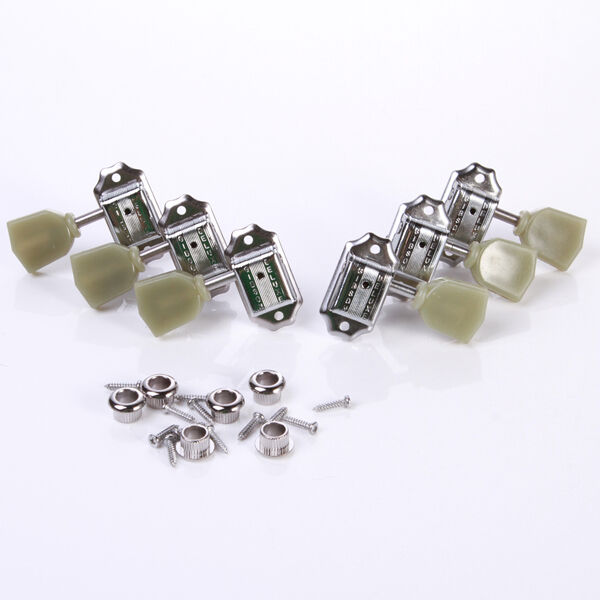 Set of 3R 3L Guitar Deluxe Tuning Pegs Machine Heads Tuners Tuning Sliver