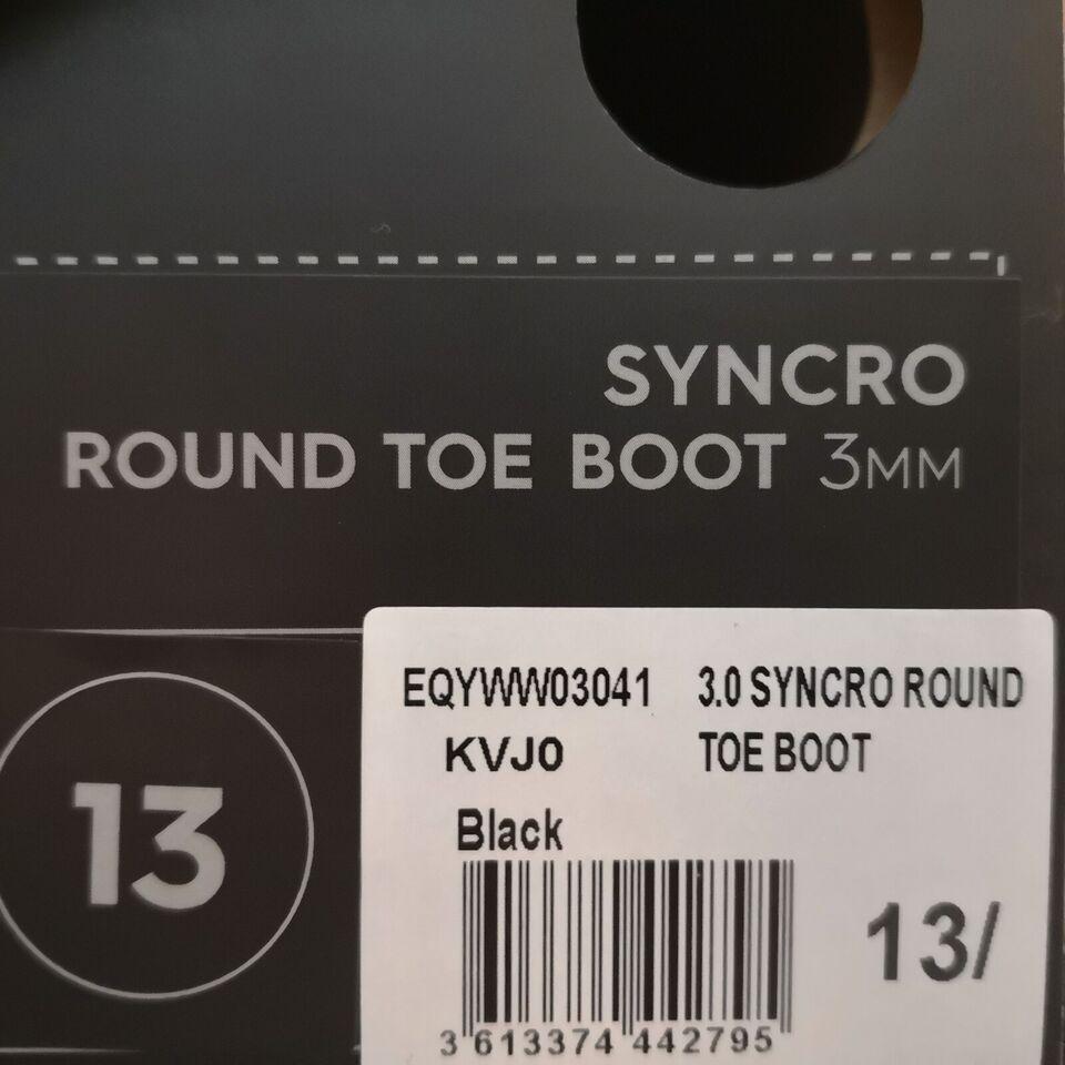 Vådsko, Quiksilver Syncro Round Toe Boot 3mm, str. 46