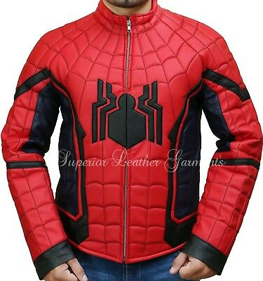 The Amazing Spiderman Jacket with Padded Embossed Spider Logo