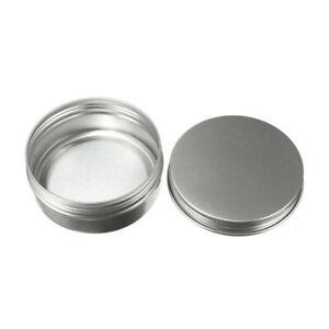 10pcs-50ml-Nail-Art-Cosmetique-Voyage-Creme-Pot-Pot-Boite-En-Etain-Conteneur-B2Z