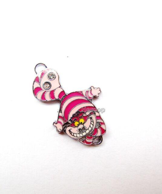 Free shipping Disney Alice cute cat Metal Charms Pendants DIY Jewellery Making