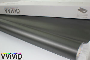Black Brushed Aluminum Vinyl Sticker Wrap Film 7.5M x 1.52M VViViD9 Air Release