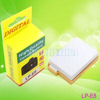 LP-E8 LPE8 battery For Canon EOS 550D 600D 700D Kiss X4 X5 X6i Rebel T2i LC-E8E