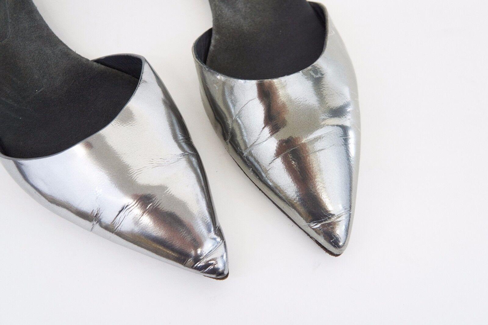 Brunello Cucinelli 40/10 2-Tone Leder Monili Ankle Beaded Flats Größe 40/10 Cucinelli US A176 ba2972