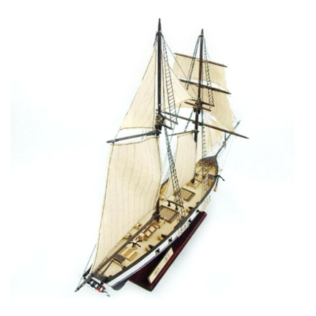 DIY Ship Assembly Model Classical Wooden Sailing Boat Scale Decoration Wood Kits