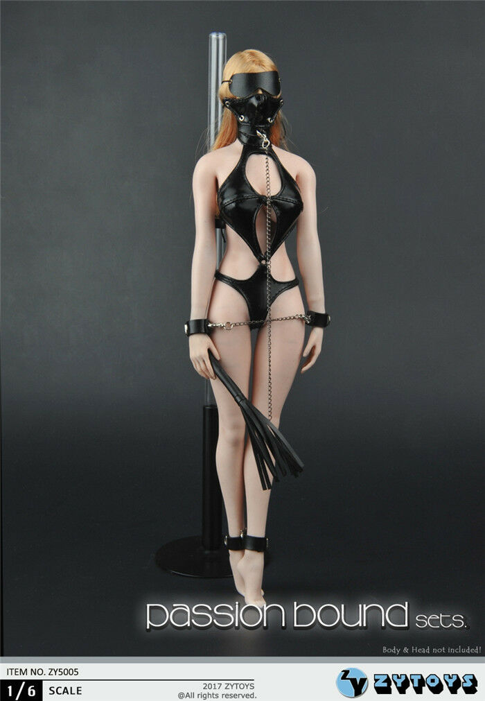 1 1 1 6 SM Leather Lingerie Suit Mask Set For PHICEN Hot Toys Female Figure ❶USA❶ cc36cf