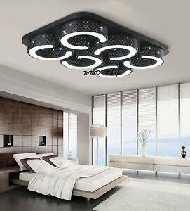 dimmbar led deckenlampen decken leuchte 20w 40w 60w wandlampe beleuchtung 9016 ebay. Black Bedroom Furniture Sets. Home Design Ideas