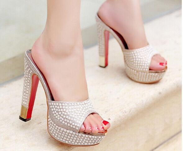 Scarpe ciabatte sabot sandali tacco  spillo 13 cm oro  tacco stiletto elegante 9296 d94db3