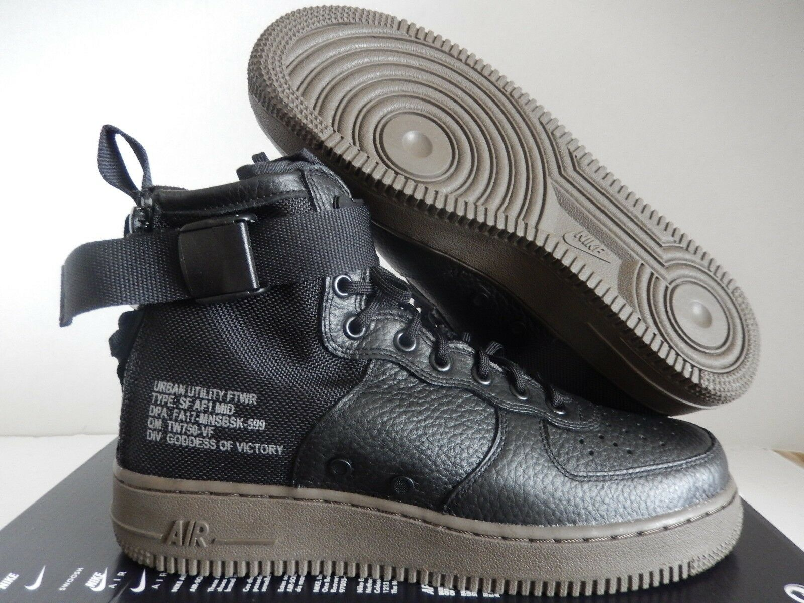 NIKE AIR FORCE 1 SF BLACK-DARK AF1 MID