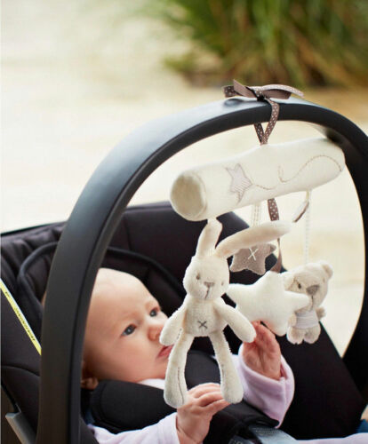 Baby stroller Crib Bed Rattle Music Hanging Bell Developmental Plush Toy new EN