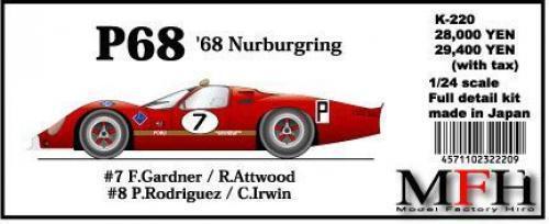 Mfh Model Fabrik Hiro 1 24 P68 '68 Nürburgring Voll Detail Set