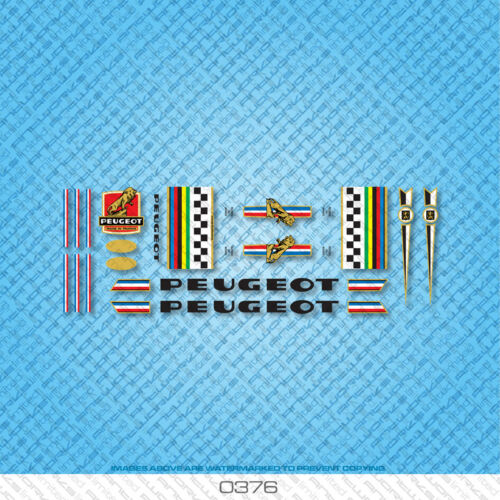 Stickers Set 376 Transfers Peugeot Bicycle Decals