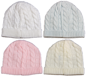 Image is loading Baby-hat-cap-knitted-Spanish-cable-beanie-boy- 8246469423e