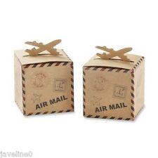 10 Boîtes à dragées avion air mail thème voyage