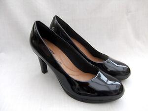 Nuevos 5 Viola en para Adriel 7 plataforma 5 patente tamaño con de mujer color 41 negro zapatos Clarks Trqtx1rA