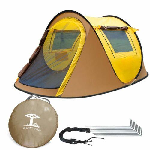 3-4 Personen Pop-Up Zelt Automatik Wurfzelt Trekkingzelt Campingzelt Wasserdicht