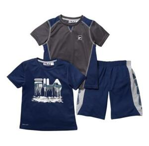 b502a7e92c45 Fila Boy s 2 Piece T Shirt Set - NAVY GREY - 6 (PANTS NOT INCLUDED ...