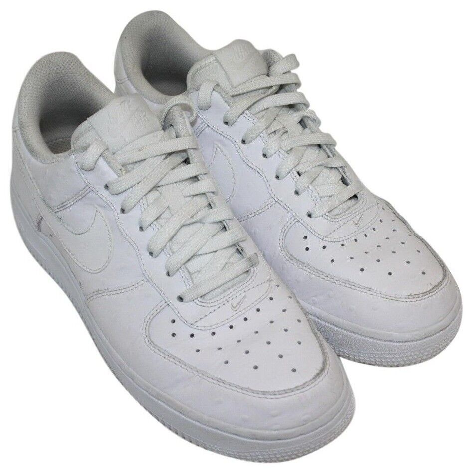 Seasonal price cuts, discount benefits Nike Air Mens White Dotted Lace Up Casual Athletic Sneakers Shoes Comfortable