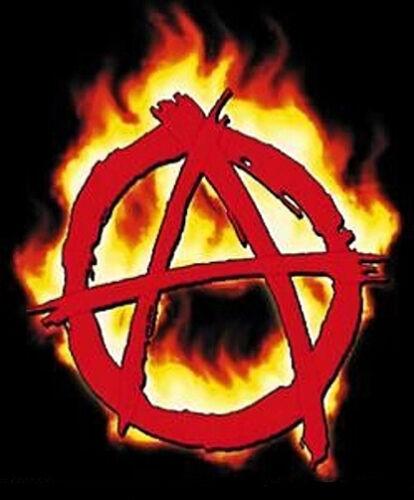 "FLAMING /""A/"" for ANARCHY R//C  Punk Rocker GUITAR Anarchist STICKER//Car DECAL"