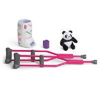 American Girl Mckenna's Cast And Crutches Bandage & Panda Set + For Mckenna Doll