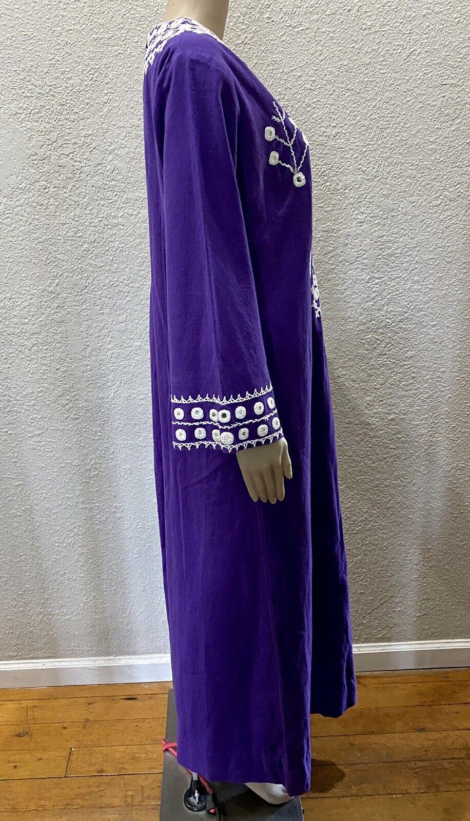 Ramona Rull Purple Cotton MIRROR Embroidery 60s B… - image 9