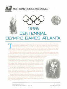 #484 32c Olympic Sheet of 20 #3068 USPS Commemorative Stamp Panel