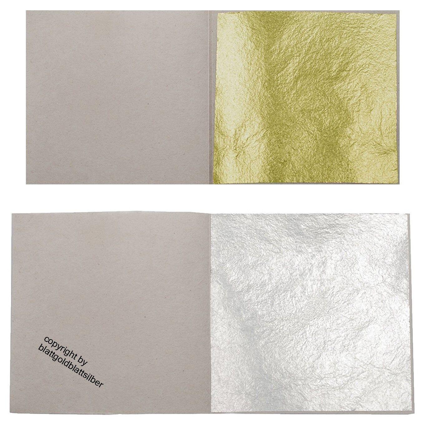 Blattgold Rosenobel-Doppelgold 23,5 Karat lose 8 x 8 cm zum vergolden Gold