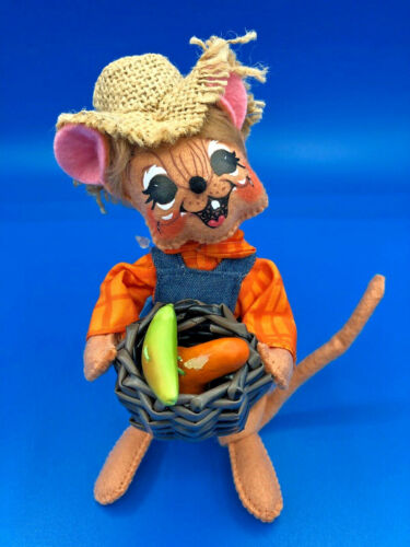 "ANNALEE Doll 6/"" Harvest Boy Mouse #350715 NEW w// Tags Fall Mouse Holding Basket"
