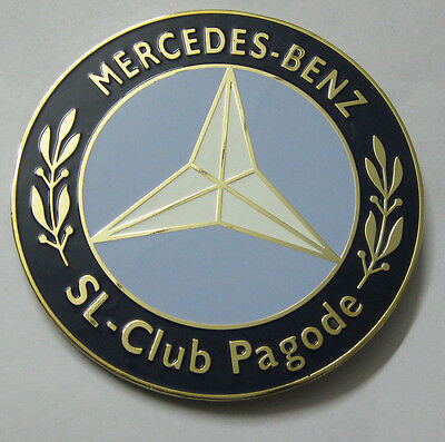 Car Badge Automobilia Badges & Mascots Mervedes Benz-sl-club Pagode Car Grill Badge Emblem Logos Metal Enam