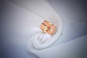 """Personalized """"My Queen"""" Copper Spinner Rings For Women Meditation Ring Size 7"""